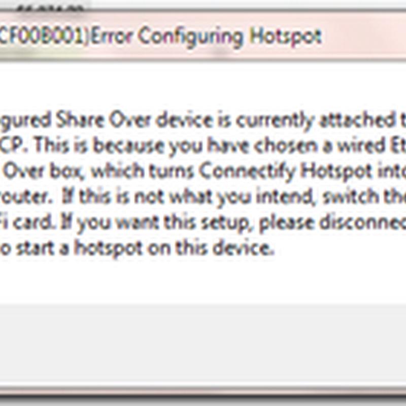 เมื่อไม่สามารถใช้โปรแกรม connectify Hotspot ได้