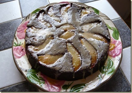 pear and chocolate brownie cake2