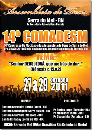 cartaz serra do mel