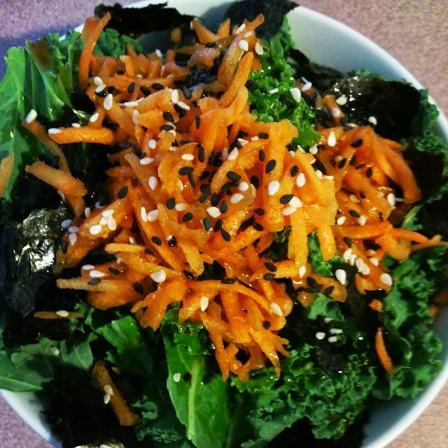 Délicieuse salade de Kale, nori et sésame #vegan