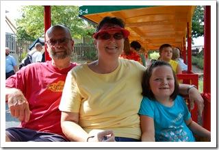 Pop, Nana & Reagan at Hershey