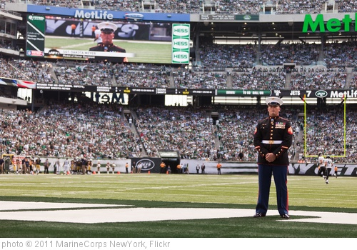 'Sgt. Dakota Meyer honored at New York Jets vs Jacksonville Jaguars game, Sept. 18' photo (c) 2011, MarineCorps NewYork - license: http://creativecommons.org/licenses/by/2.0/