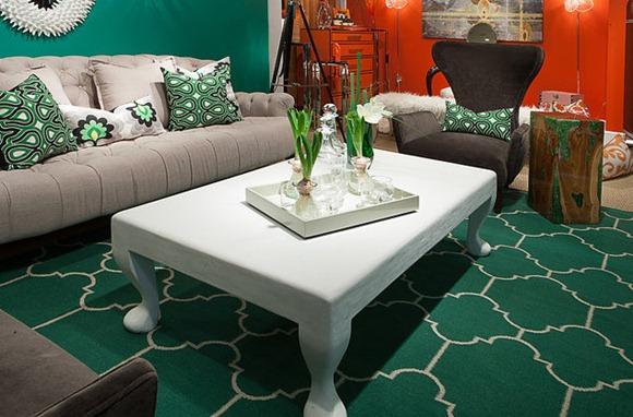 Verde esmeralda sala de estar