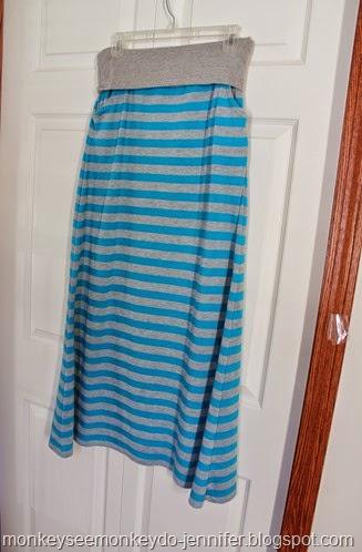 hanging maxi skirt