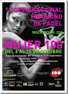 Primer Torneo de Pádel Mujer 100, patrocinado por Sociedad de Prevención MAZ.