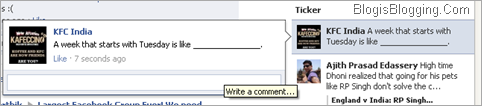 Facebook-Ticker In Sidebar