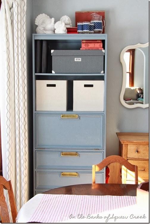 blue brass cabinet