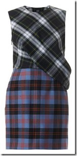Mq Alexander McQueen Multi Plaid Dress