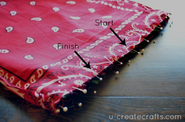 Drawstring Bandanna Backpack Step 25
