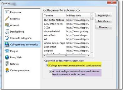 collegamento automatico windows live writer