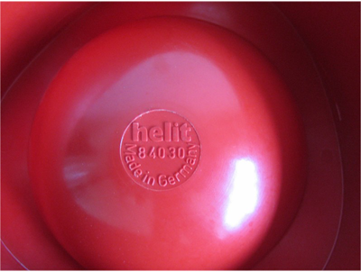 84030 Sinus ashtray, red, imprint