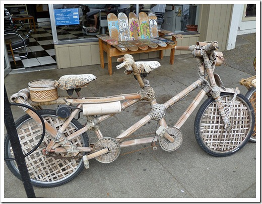 Bamboo bicycles at Davis Barber Shop