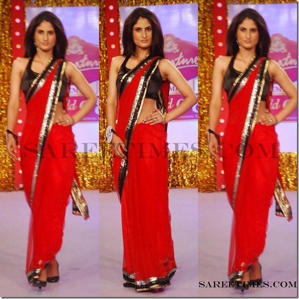 Signature_Fashion_Show_Red_Designer_Sari