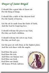 Prayer of St Brigid