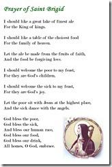 Prayer of St Brigid