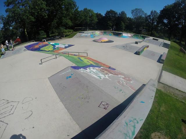 Het skatepark van Hardenberg aan de Parkweg.