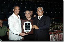 Reconocimiento a Jose luis Ramirez, presidente FEDOKARATE