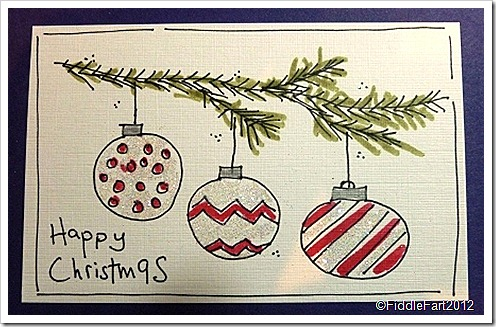 Doodled Christmas Bauble Card