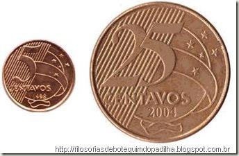 5 centavos e 25