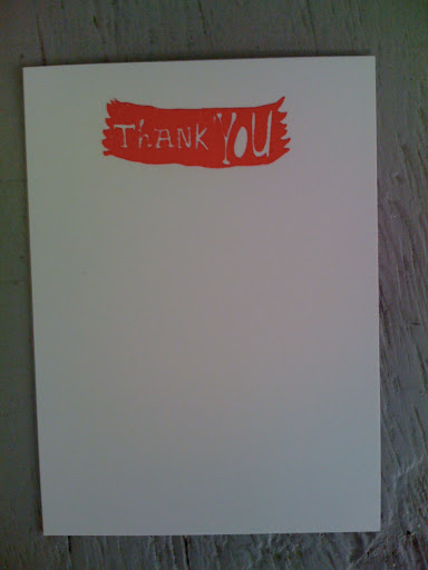 She also created multiple thank-you-note options.