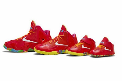 nike lebron 11 gs fruity pebbles 4 04 Kids Nike LeBron XI GS Laser Crimson Collection Available Now