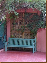 Marrakech majorelle bench N