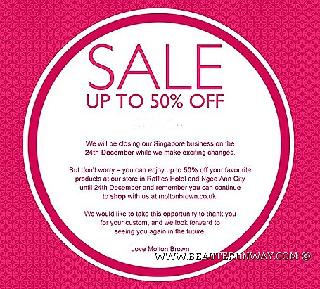 molton brown sale singapore london