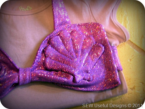 Mermaid costume top close up pic