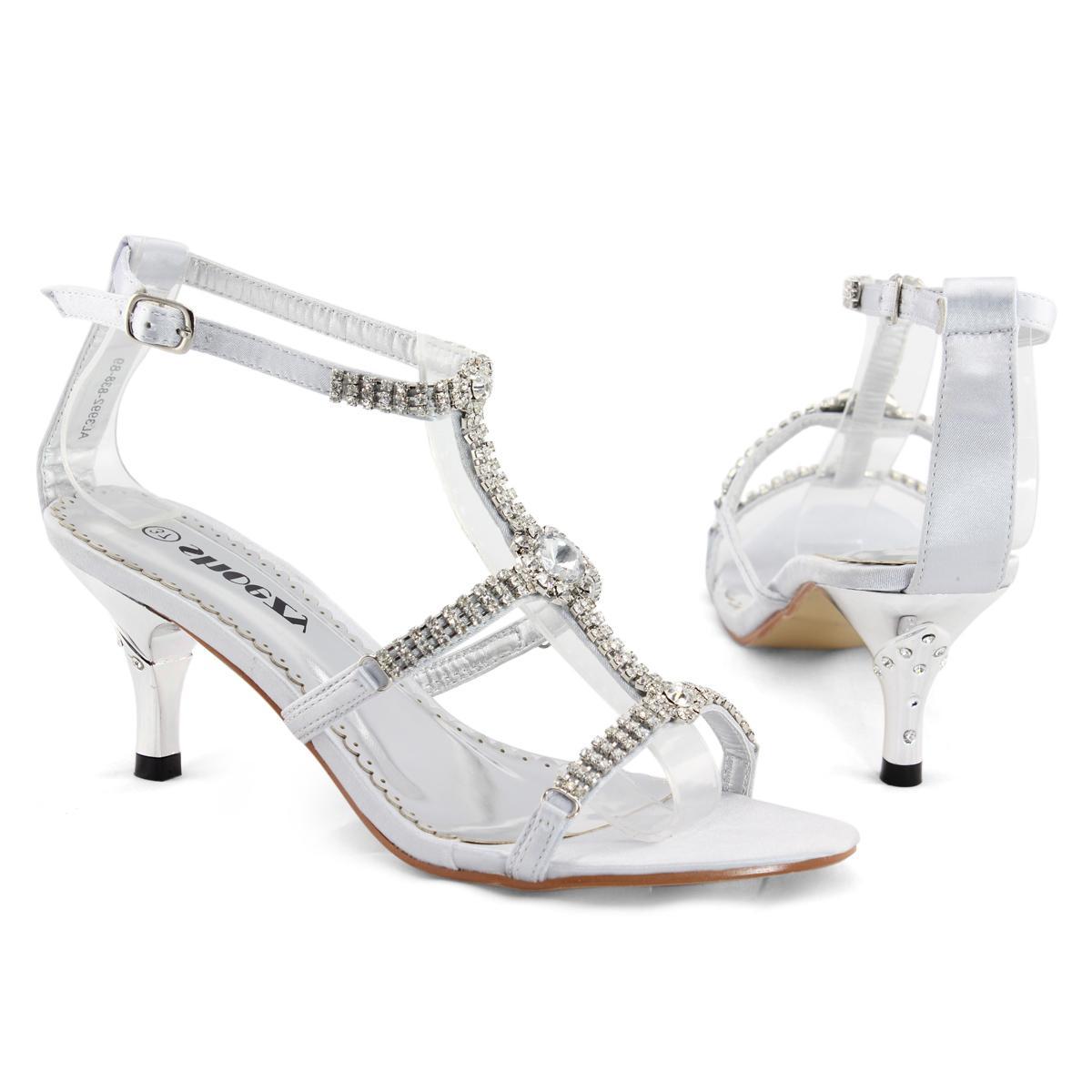 Diamante Kitten Heels