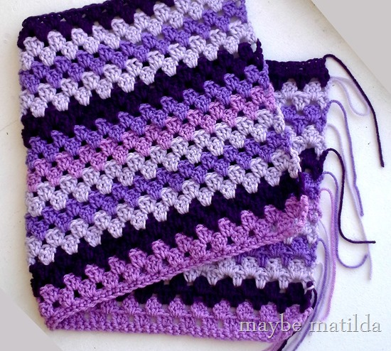 Purple granny stripes!