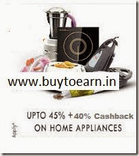 PayTM: Buy Appliances upto 60% off + 40% Cashback