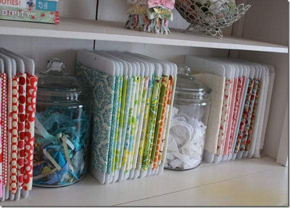 fabric storage by The Girl Inspired