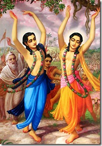Nimai Nitai chanting and dancing