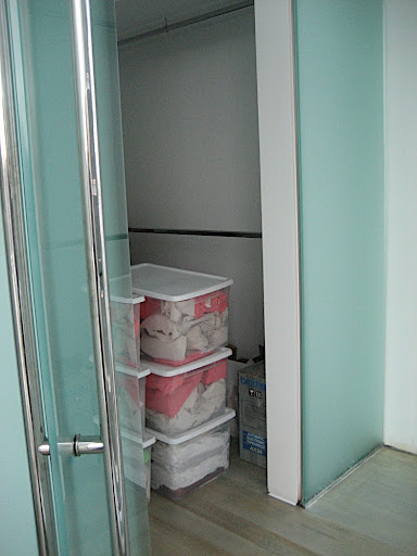 The two closets were so small and felt unusable.