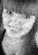 Mosaico preto e branco