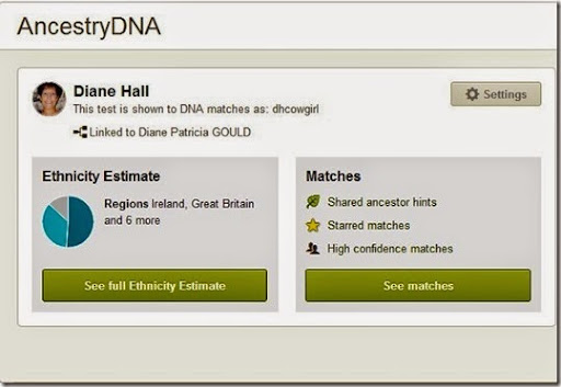 ancestry dna home screen