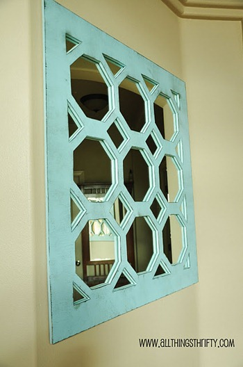 turquoise mirror