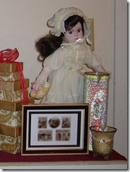 doll and candles