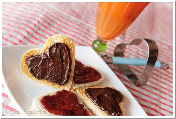 Przy Sużym Stole: zdrowa niby Nutella przepis na walentynki