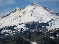 Close up of the east face of Mt Baker.