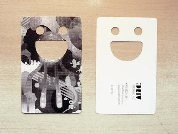 holes based business cards