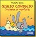 giulio coniglio imparara a nuotare