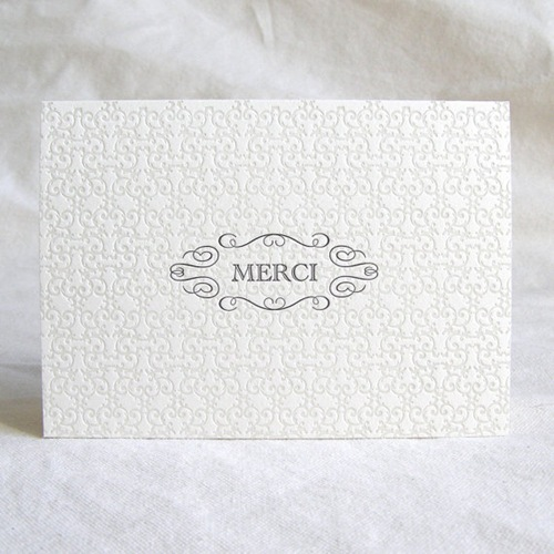 Letterpressed Merci Card by Presse Dufour