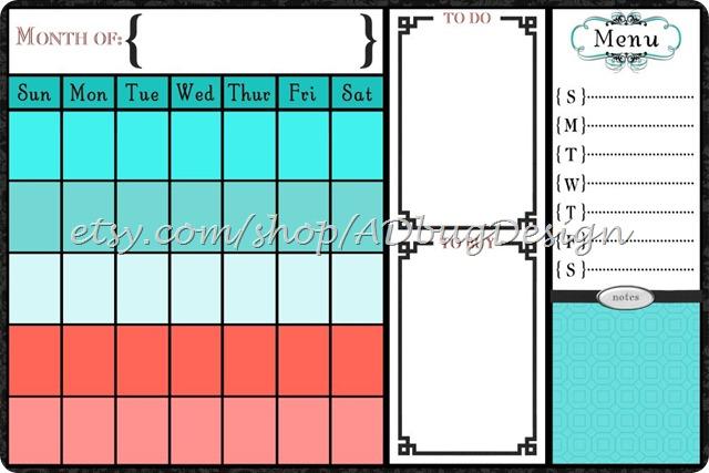 Alyssa Calendar {ADbugDesign}
