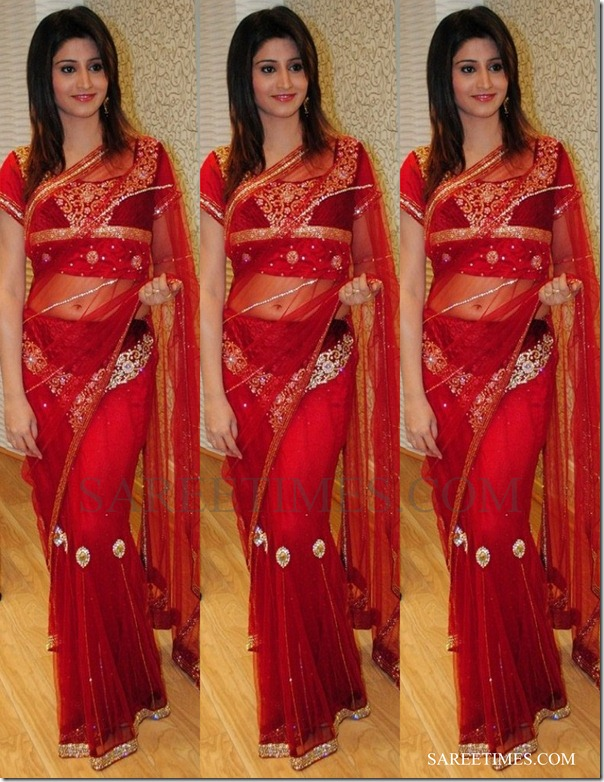Shamili_red_saree