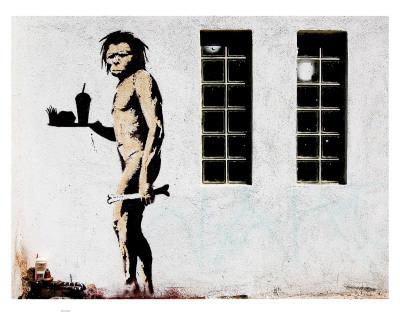 Unknown fast food caveman