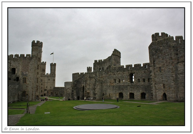 Courtyard of Caernarfon Castle