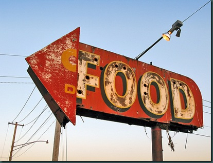 Food roadsign