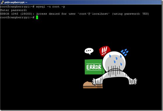 forgot root password mysql on raspberry Pi