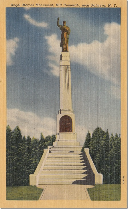 Angel Moroni Monument, Hill Cumorah, Palmyra, New York pg. 1 - 1947